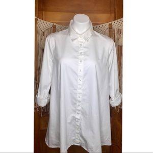 <CABI> White Oversized Button Down Tunic